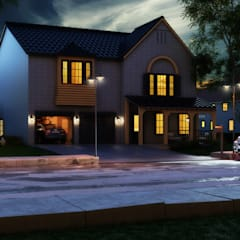 Exterioe View - Night:  Bungalow by Rayvat Engineering