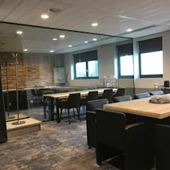 Renovatie Kantoor Amsterdam Zuid:  Kantoor- & winkelruimten door YBB Architecture Amsterdam, Modern