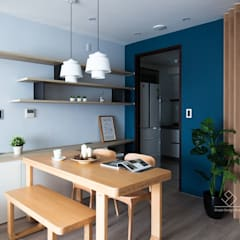 minimalistic Dining room by 極簡室內設計 Simple Design Studio