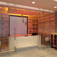 Alev Racu – Jakuzi alanı:  tarz Sauna