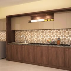 Concealed style kitchen : modern Kitchen by NVT Quality Build solution