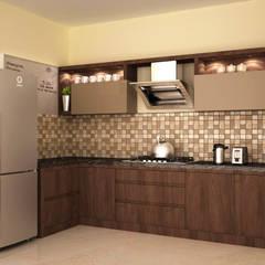 Dual colour style :  Kitchen by NVT Quality Build solution