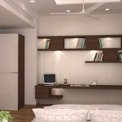 Study table and ledge : modern Bedroom by NVT Quality Build solution