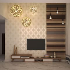 Home theater unit and wall style : classic Living room by NVT Quality Build solution