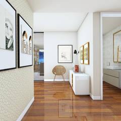 Edifício de luxo 'Douro Crystal Gardens' - 28 Apartamentos, Palácio de Cristal - PORTO: Corredores e halls de entrada  por SHI Studio, Sheila Moura Azevedo Interior Design