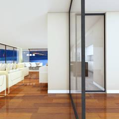 Edifício de luxo 'Douro Crystal Gardens' - 28 Apartamentos, Palácio de Cristal - PORTO Salas de estar escandinavas por SHI Studio, Sheila Moura Azevedo Interior Design Escandinavo