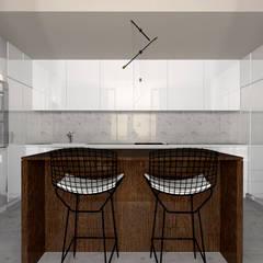 Edifício de luxo 'Douro Crystal Gardens' - 28 Apartamentos, Palácio de Cristal - PORTO: Armários de cozinha  por SHI Studio, Sheila Moura Azevedo Interior Design