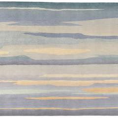 Deirdre Dyson SKYSCAPE hand knotted wool & silk rug:  Floors by Deirdre Dyson LLP