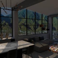 ARQUITECTURA. Casa Geyer: Salas de estilo  por Proyectos Kukenán SAS