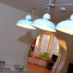 Ceiling light:  Dining room by Roundhouse Architecture Ltd