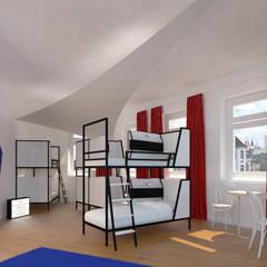 3D Visualisierung - Mehrbettzimmer  :  Hotels von Minibau