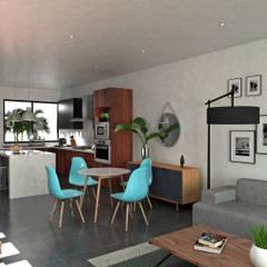 Loft JBS: Comedores de estilo  por Heftye Arquitectura