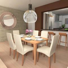 Diseño interior Living comedor: Comedores de estilo  por MM Design,
