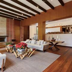 CASA ALCAPANI - Salón -: Salas de estilo  por FR ARQUITECTURA S.A.S.