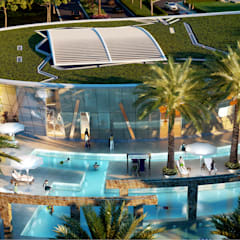 The club with swimming pools:  Pool by NMP Design