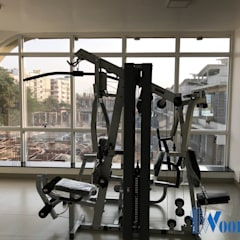 Villa Project at Renaissance Nature Walk:  Gym by Deccan Structural Systems Pvt. Ltd.