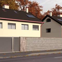 Vista exterior 1 Casas de estilo moderno de A3D INFOGRAFIA Moderno