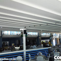Corradi retractable roofs at Cape Town Fishmarket - V & A Waterfront Cape Town:  Shopping Centres by Corradi Outdoor Living Space