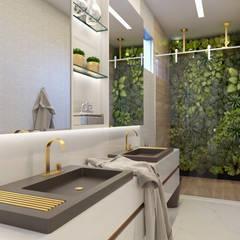 Casa CS: Banheiros  por Daniela Andrade Arquitetura