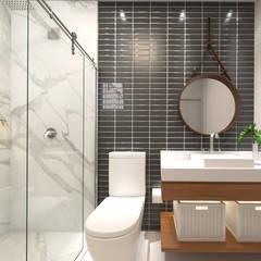 Casa LA: Banheiros modernos por Daniela Andrade Arquitetura