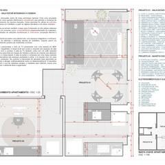 Apartamento Oito: Pavimentos  por Bernardo Horta Arquiteto
