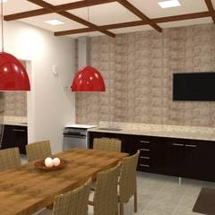 Espaço Gourmet Jardins de inverno rústicos por Mariana Gazulha Arquitetura e Interiores Rústico Derivados de madeira Transparente