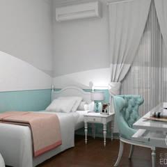Proyecto Habitación Florencia: Dormitorios de estilo  por Estudio Equilibrio