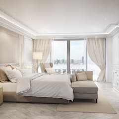 Master Bedroom:  ห้องนอน by Charrette Studio Co., Ltd.