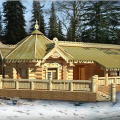 Проект интерьеров бани из бревен: Деревянные дома в . Автор – IvE-Interior,