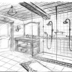 Эскиз ванной для проекта бани: Ванные комнаты в . Автор – Iv-Eugenie