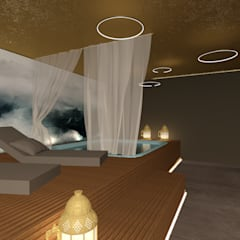 spa-area relax: Spa in stile  di Giemmecontract srl.