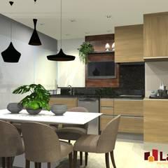 Apto. Vereda Reserva VI: Terraços  por LAM Arquitetura | Interiores