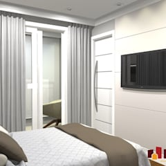 اتاق خواب by LAM Arquitetura | Interiores