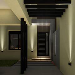 Vivienda en Duplex: Pasillos y recibidores de estilo  por ARBOL Arquitectos