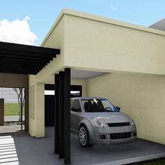 Vivienda en Duplex: Garajes de estilo  por ARBOL Arquitectos