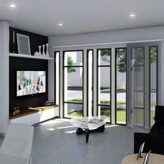 Vivienda Racional Compacta: Livings de estilo minimalista por ARBOL Arquitectos