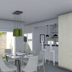 Vivienda Racional Compacta: Comedores de estilo minimalista por ARBOL Arquitectos