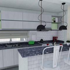 Vivienda Racional Compacta: Cocinas de estilo minimalista por ARBOL Arquitectos