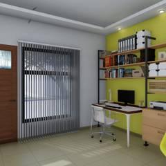 Remodelación y ampliación Vivienda: Estudios y oficinas de estilo escandinavo por ARBOL Arquitectos