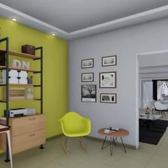 Remodelación y ampliación Vivienda: Estudios y oficinas de estilo  por ARBOL Arquitectos