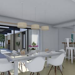 Remodelación y ampliación Vivienda: Comedores de estilo escandinavo por ARBOL Arquitectos