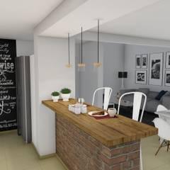 Remodelación y ampliación Vivienda: Cocinas de estilo  por ARBOL Arquitectos