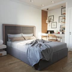 غرفة نوم تنفيذ Дизайн студия Simply House