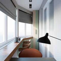 Дизайн квартиры 50 кв.м.: Tерраса в . Автор – Дизайн студия Simply House