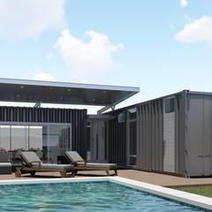 Casa Quinta Container: Casas de estilo industrial por ARBOL Arquitectos