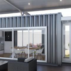 Casa Quinta Container: Livings de estilo  por ARBOL Arquitectos