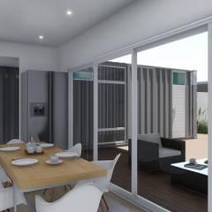 Casa Quinta Container: Comedores de estilo  por ARBOL Arquitectos