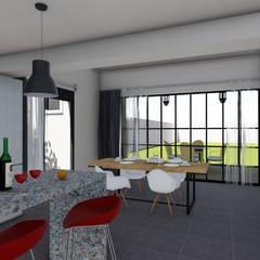 Remodelacion y ampliación Vivienda Moderna/Industrial: Comedores de estilo  por ARBOL Arquitectos