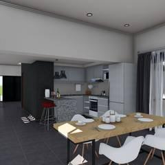 Remodelacion y ampliación Vivienda Moderna/Industrial: Comedores de estilo escandinavo por ARBOL Arquitectos