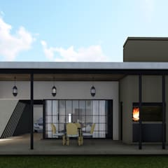 Remodelacion y ampliación Vivienda Moderna/Industrial: Casas de estilo industrial por ARBOL Arquitectos